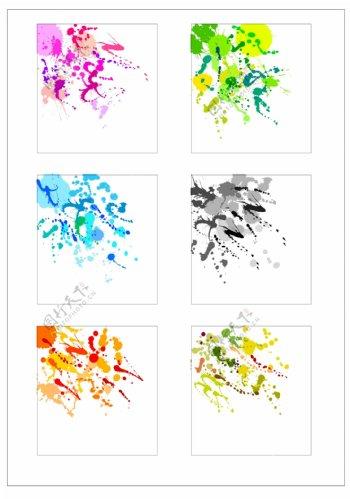 笔刷设计应用背景图案矢量素材AI格式0361