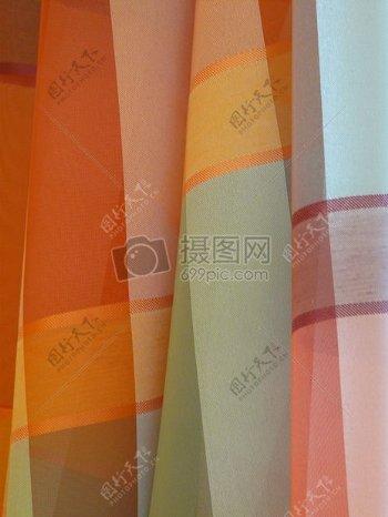 彩色的花纹窗帘