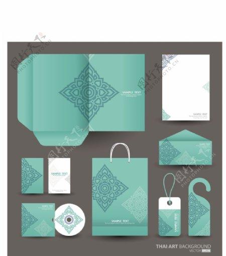 墨绿色纹理创意文化vi素材