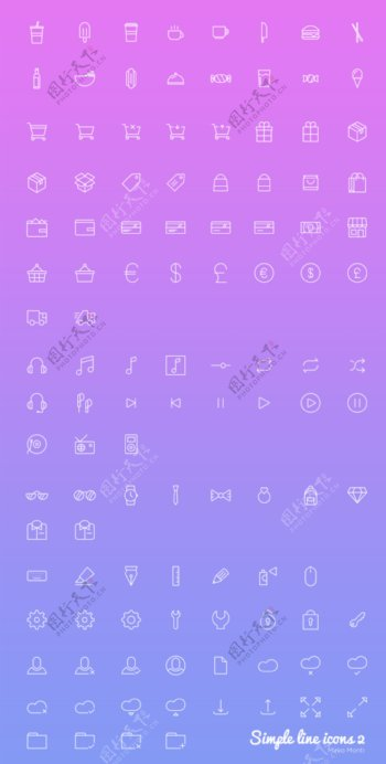 超实用网络ICONS图标UI
