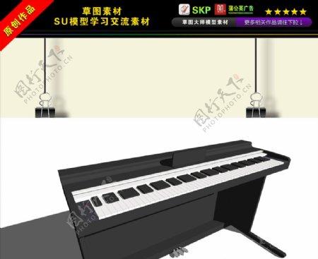 钢琴乐器SU模型