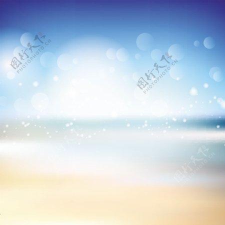 具有海滩主题的背景摘要