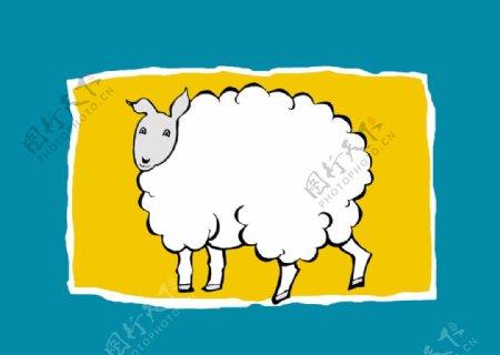 小绵羊卡通羊
