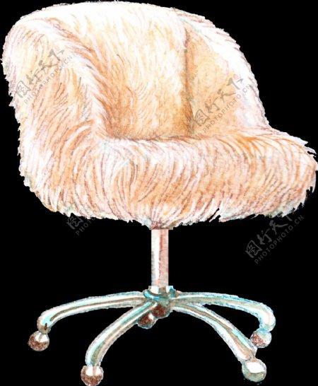 毛皮椅子卡通透明素材
