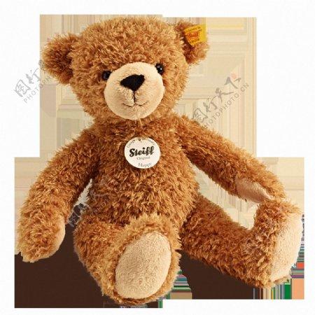 棕色毛茸茸的熊玩具免抠png透明素材