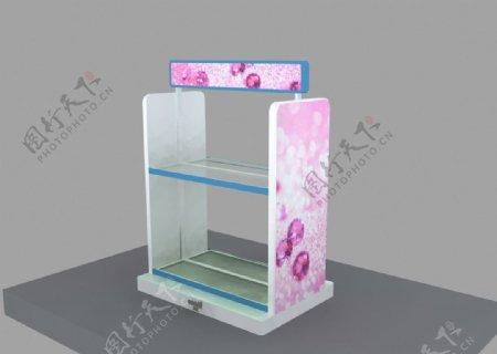 小型中岛柜3d设计效果图
