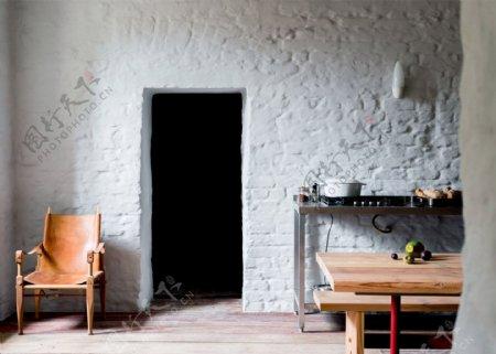 现代时尚浅蓝色背景墙客厅室内装修效果图