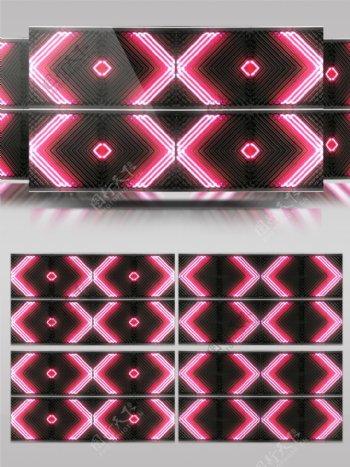 光红色vj几何视频素材