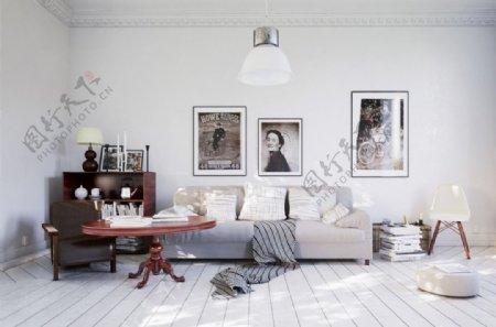 简欧风格客厅设计max效果图