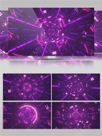 紫色vj炫酷光高清视频素材