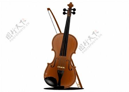 卡通黄色大提琴png元素