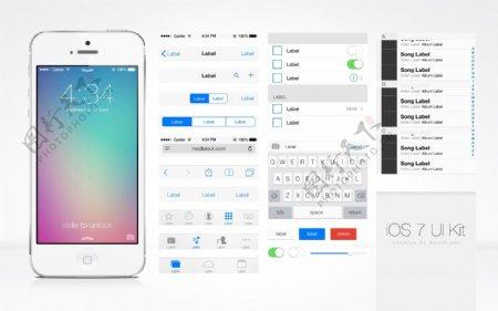 iPhone手机内部设置界面ios7