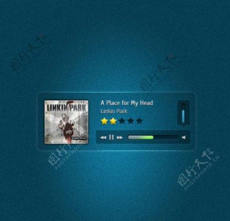 手机APP音乐软件UI界面素材