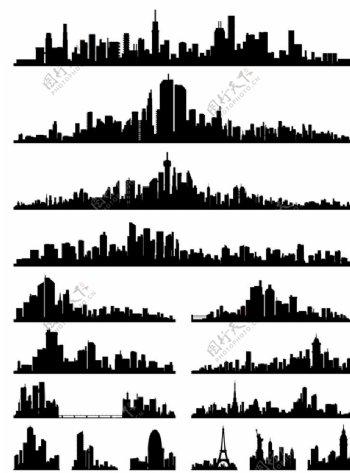 城市矢量剪影