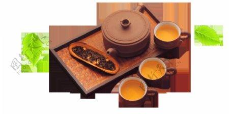 文化内涵黄褐色茶具产品实物