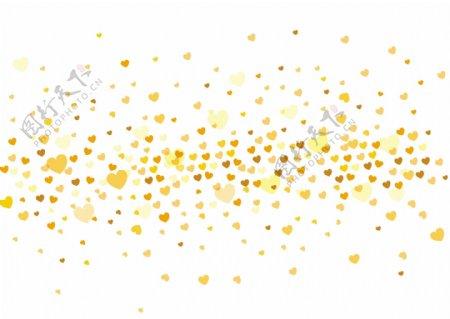 情人节黄色爱心AI矢量元素下载