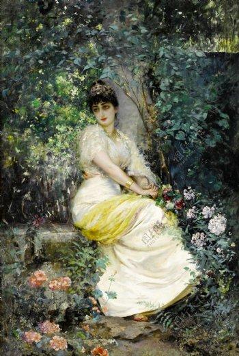欧美美女贵族油画