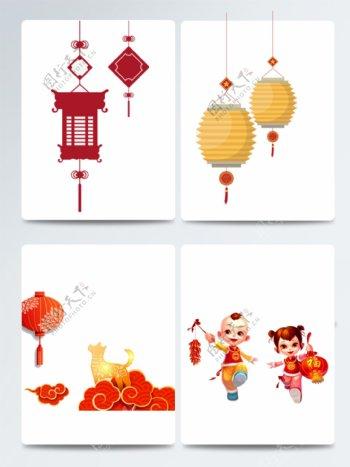 2018春节灯笼狗年红灯笼红色