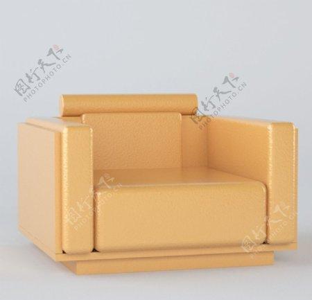 3D设计单人沙发