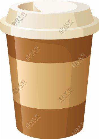 咖啡饮料一次性杯子矢量图