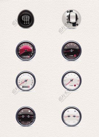 8款矢量汽车表盘创意图
