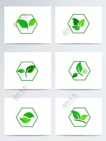 惊蛰绿叶扁平草木ai矢量元素