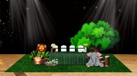 动物园主题宝宝宴签到区