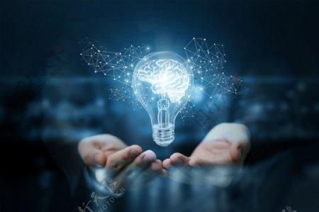 发散思维商务科技背景