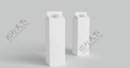 牛奶纸盒包装样机免费素材