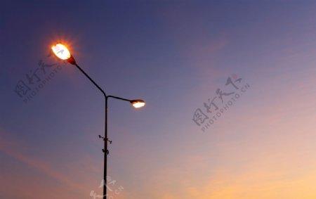 路灯应用背景图