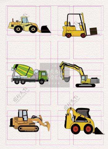 卡通创意8组工程机械设计