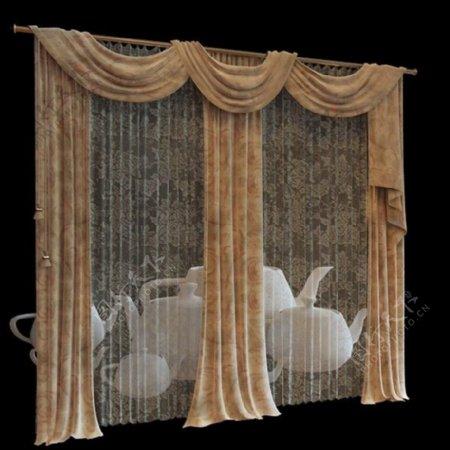 窗帘3d渲染模型