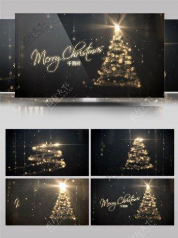ae模板新年圣诞节日祝福logo标志展示
