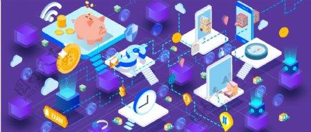 紫色人工智能物联网科技未来插图AI