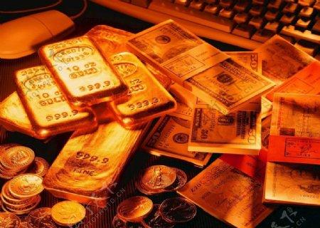 黄金背景金币黄金