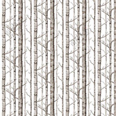 树林墙纸图案设计