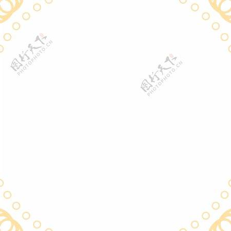 圆形花纹样式纹理边框