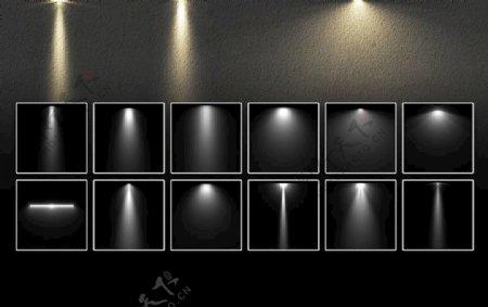 ps灯光笔刷12款灯光ABR