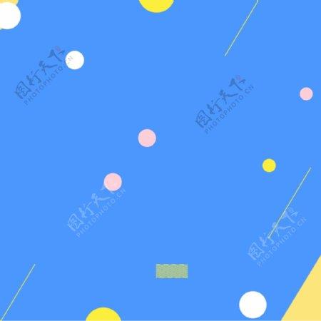 简约蓝色背景墙PSD分层主图背景