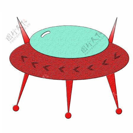 航天日浮雕UFO插画