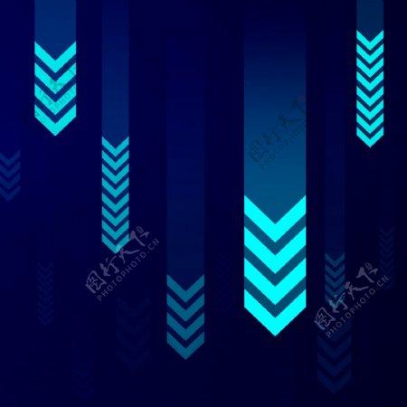 科技背景蓝色箭头
