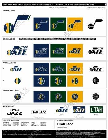 新版NBA犹他爵士logo