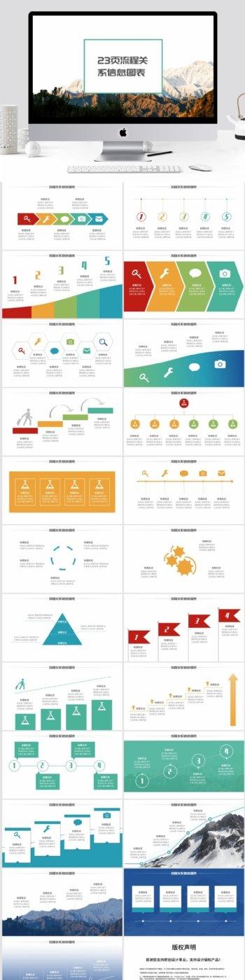 流程关系信息图表