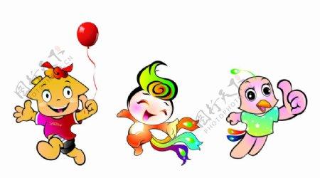 吉祥物卡通形象原创设计3款