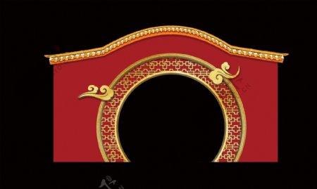 中国风拱形门