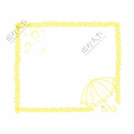 正方形图案边框插图