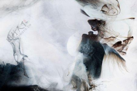 新中式抽象水墨背景画
