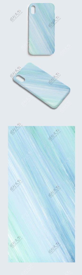 蓝色金属拉丝AI格式矢量手机壳