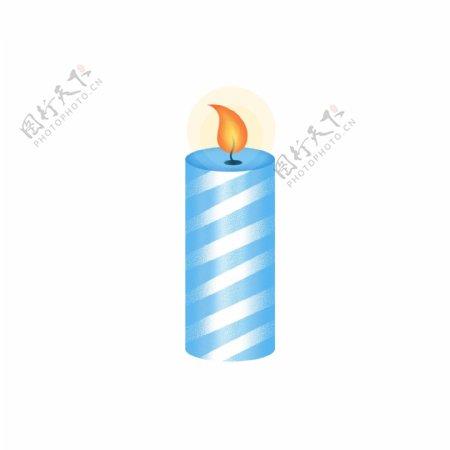 蓝色祈祷蜡烛平安火光光晕免抠GIF素材