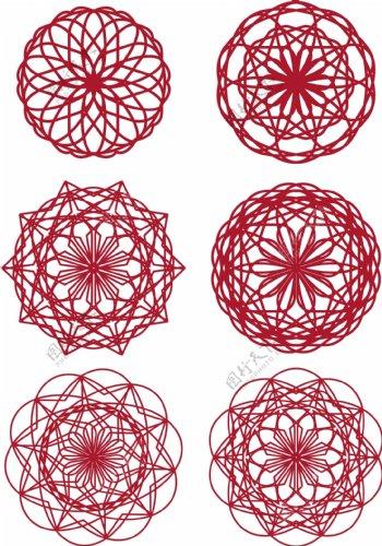 新春新年喜庆中国风剪纸纹理边框